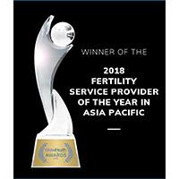 Accredation awards winner 2018 fertility serviece provider of the year